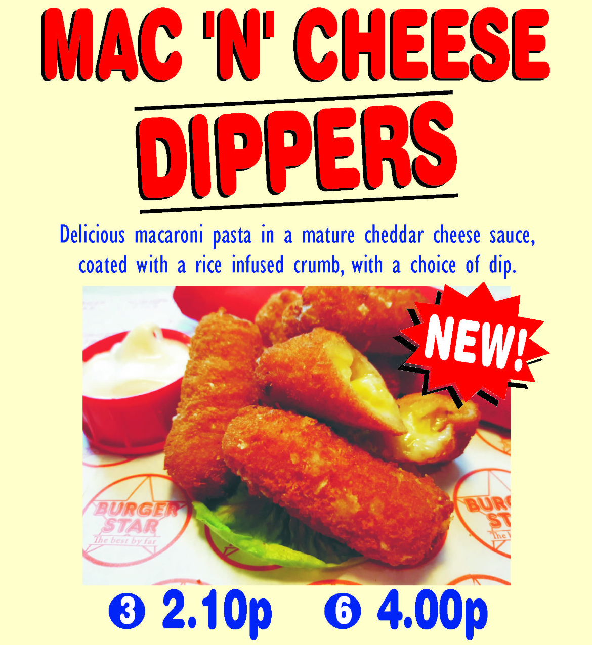 mac n cheese dippers